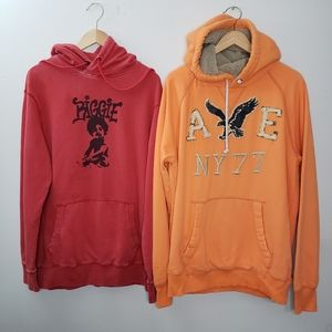 American Eagle & Red Biggie Graphic Hoodie Size L